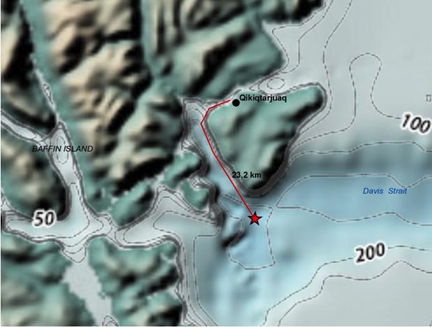 Ice camp location 2015-2016.