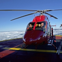 "The ""Bell 429"" aboard the Amundsen"