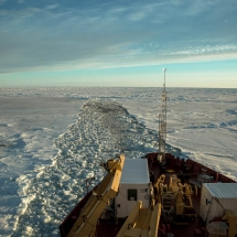View of the Amundsen track when stuck in the ice