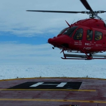 Leaving the Amundsen
