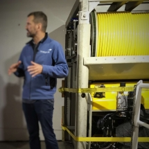 Presentation of the remotely operated vehicle (ROV) before the departure