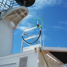 Installation and testing of the satellite antenna