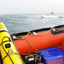 Deploying Qala1 in the swell and ice