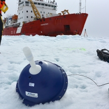 iSPV buoys deployed directly on an ice floe.