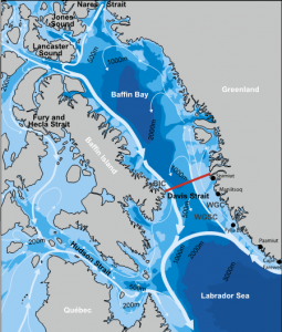 Oceanic circulationin baffin Bay, Curry et al. 2011