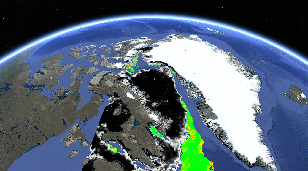 Figure 3: The AMSR2 satellite provides daily information on sea-ice concentration with a resolution of 3.25 km